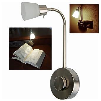 LED lámpara de piso dosis 3 Watt regulable - gracias a su cuello de cisne flexible
