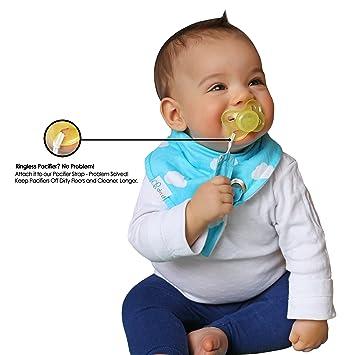 amazon com trendy bandana bib with pacifier clip for teething