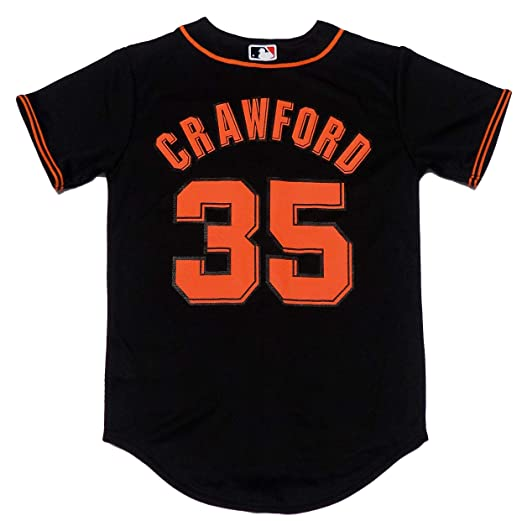 the latest 2ca2e 29af0 Amazon.com: Brandon Crawford San Francisco Giants Black ...