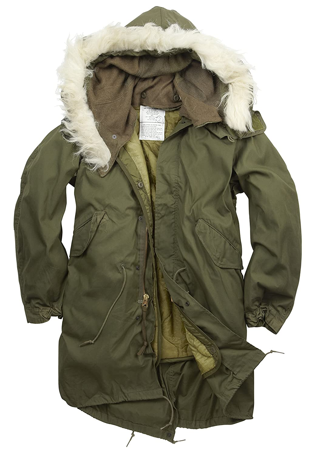 Genuine USA Forces Army Style Issue Fishtail Parka  Amazon.co.uk ... ab734a48cc6
