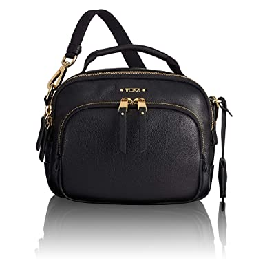 b8f9f57ea Amazon.com: TUMI - Voyageur Troy Leather Crossbody Bag - Satchel Purse for  Women - Black: Clothing