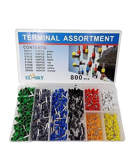 Amazon.com: EL-SKY 800pcs Assortment Ferrule Wire Copper Crimp ...