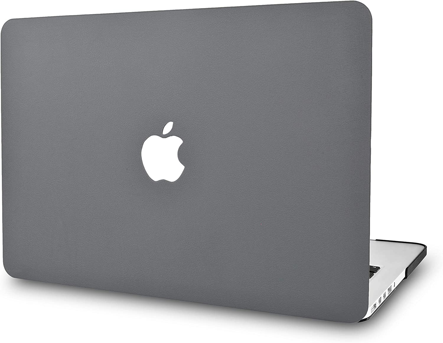 "KECC Laptop Case for Old MacBook Pro 13"" Retina (-2015) Italian Leather Hard Shell Cover A1502 / A1425 (Grey Leather)"