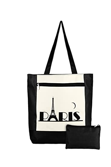 3e26f729301 Waanii Daily use shopping bag and small pouch (Black)