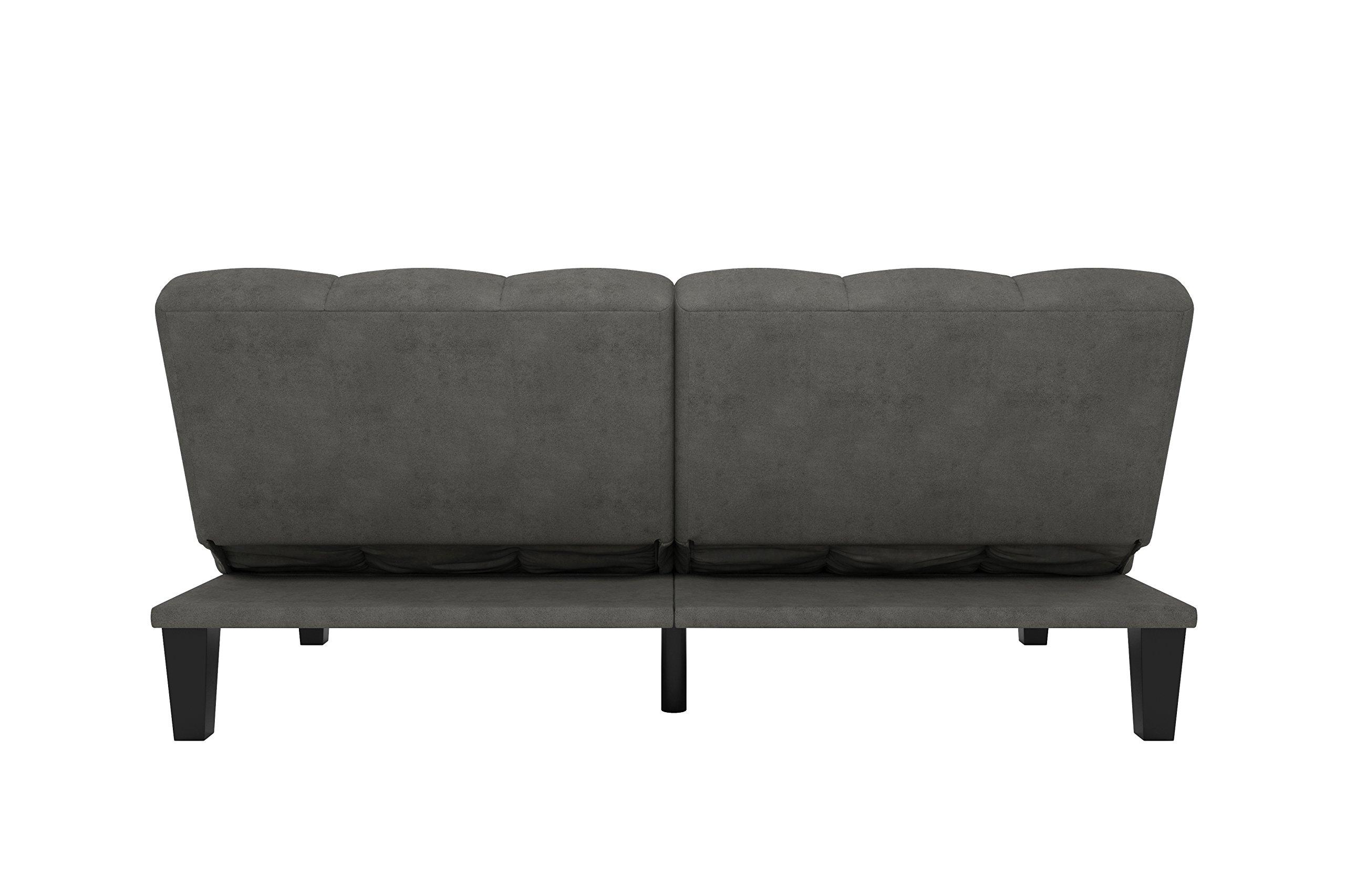 DHP Hamilton Estate Premium Sofa Futon Sleeper Comfortable Plush Upholstery, Rich Gray by DHP (Image #8)