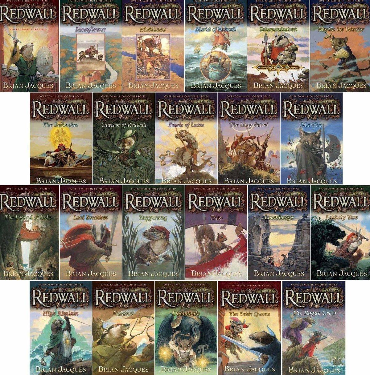 Brian Jacques Redwall Series Set (Book 1-20): Redwall; Mossflower;  Mattimeo; Mariel of Redwall; Salamandastron; Martin the Warrior; Bellmaker;  Outcast of ...