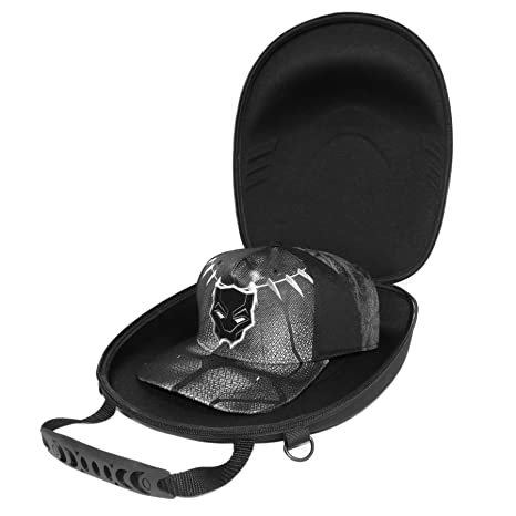 c8f8cece4e6 Amazon.com  Baseball Cap Carrier Case 4-6 Hats Carry On Hat Bag with  Shoulder Strap  Sports   Outdoors