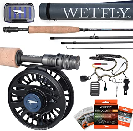 Amazon Com Wetfly Nitrolite Fly Fishing Rod And Reel Combo Sports Outdoors