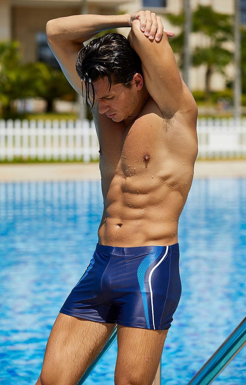 Arcweg Costume da Bagno Uomo Boxer con Pad Rimovibile e Coulisse Pantaloncini Calzoncini da Bagno Elastico a Vita Bassa Boxershorts