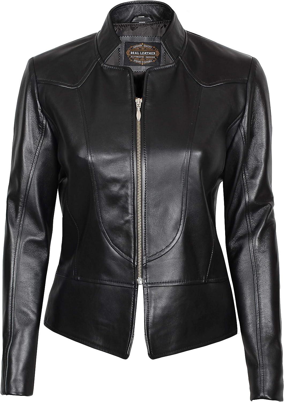 Women Leather Jacket - Real Lambskin Leather Jackets for Women