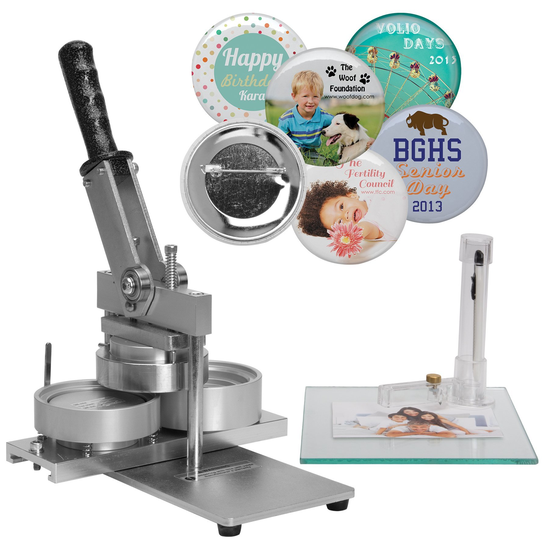 Neil Enterprises Heavy Duty Button and Badge Making Machine, 3 in