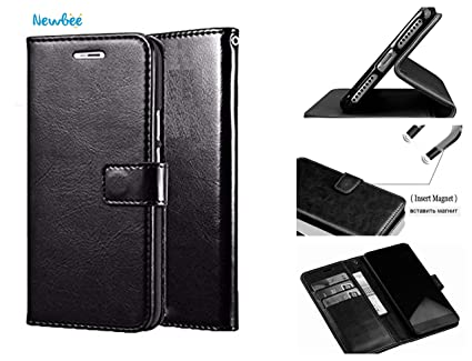 New bee Wallet Flip Cover with Kickstand and Card: Amazon in