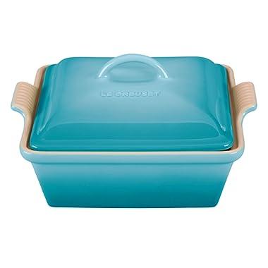 Stoneware 2.5-qt. Square Casserole Color: Caribbean
