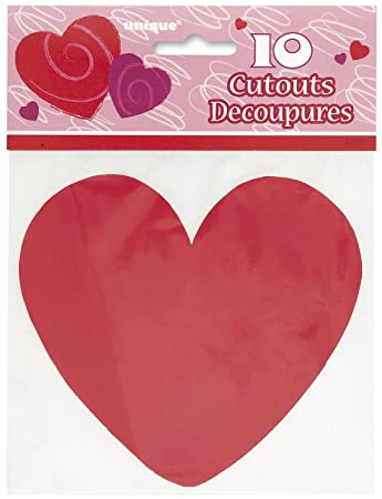 5quot Paper Cutout Red Heart Decorations