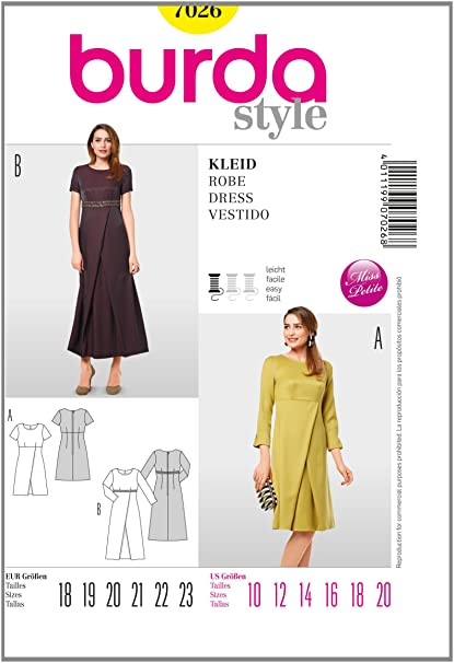 Burda Style Sewing Pattern 7026