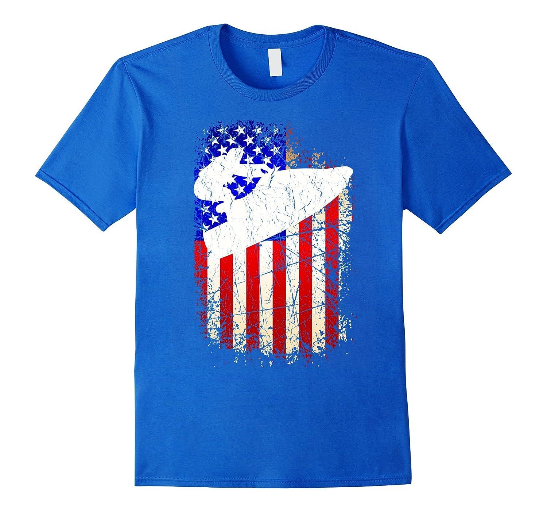 4th of July Jet Ski Shirt Patriotic American Flag T-Shirt-PL