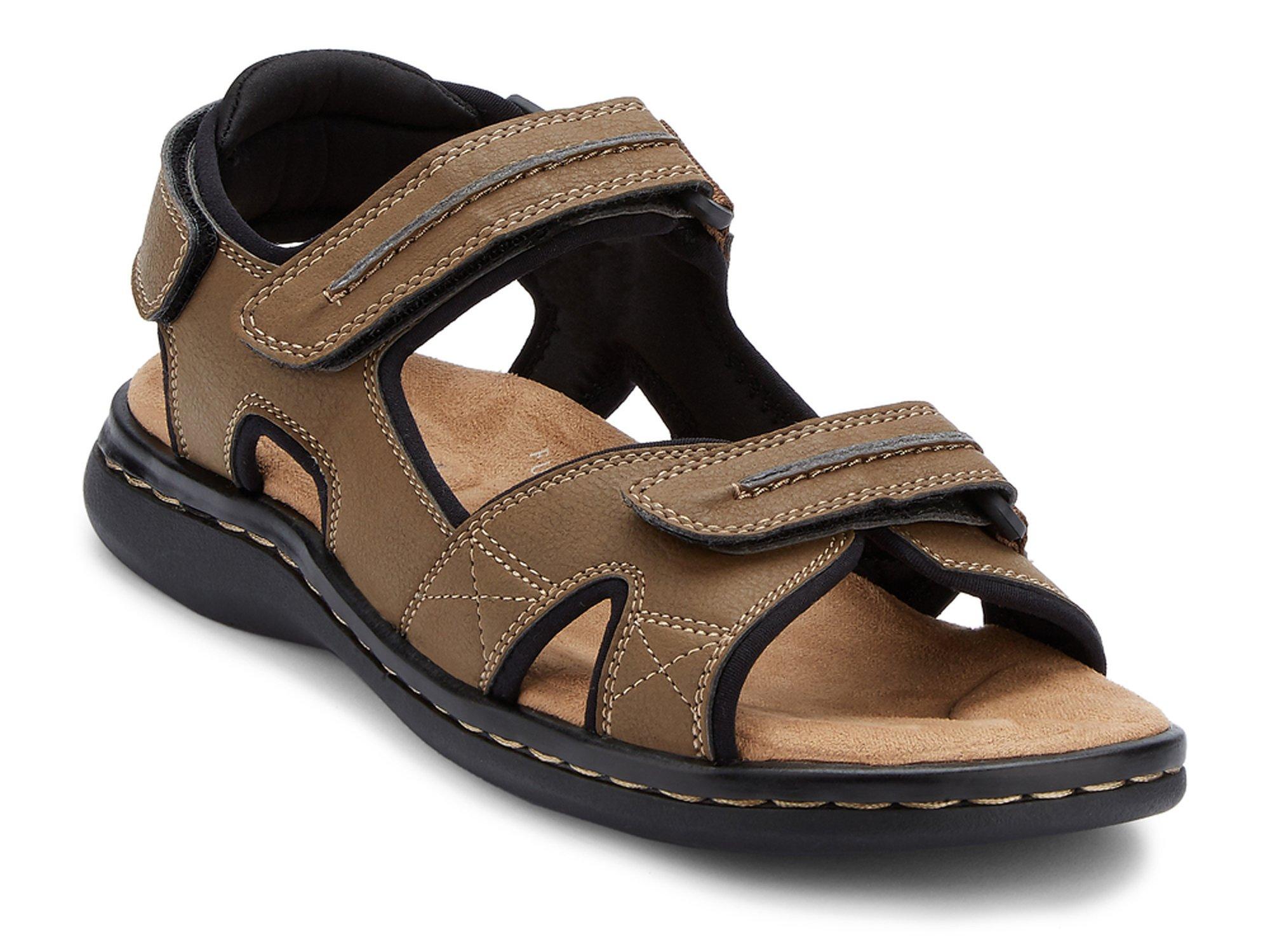 Dockers Men's Newpage Sporty Outdoor Sandal Shoe,Dark Tan, 12 M US