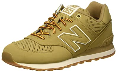 best website 7e828 51b7a New Balance 574, Baskets Basses Homme, Beige (Sand), 40 EU