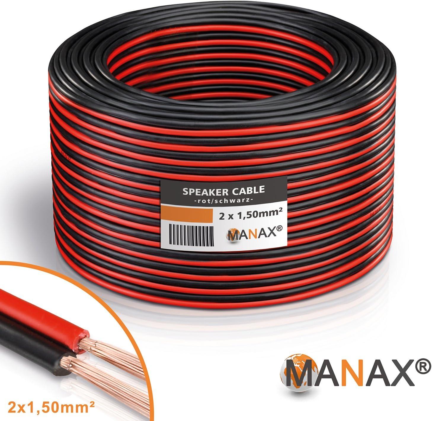 100m 2x1,5mm² Lautsprecherkabel CCA HIFI MUSIK BOXEN Speaker Cable AUDIOKABEL