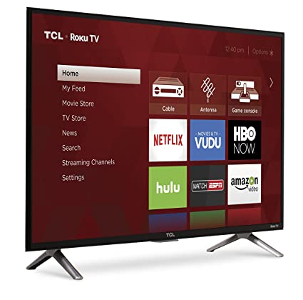 TCL 32S305 HD TV 32 Inch Smart TV  front right angle screen