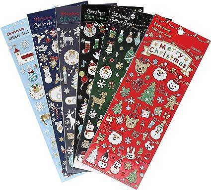 Avery Zweckform Etiketten Aufkleber Sticker Schneemänner bunt 36 Stück Deko