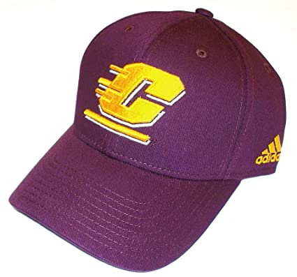 04452031645 Image Unavailable. Image not available for. Color  NCAA adidas Central  Michigan Chippewas Structured Adjustable Hat ...