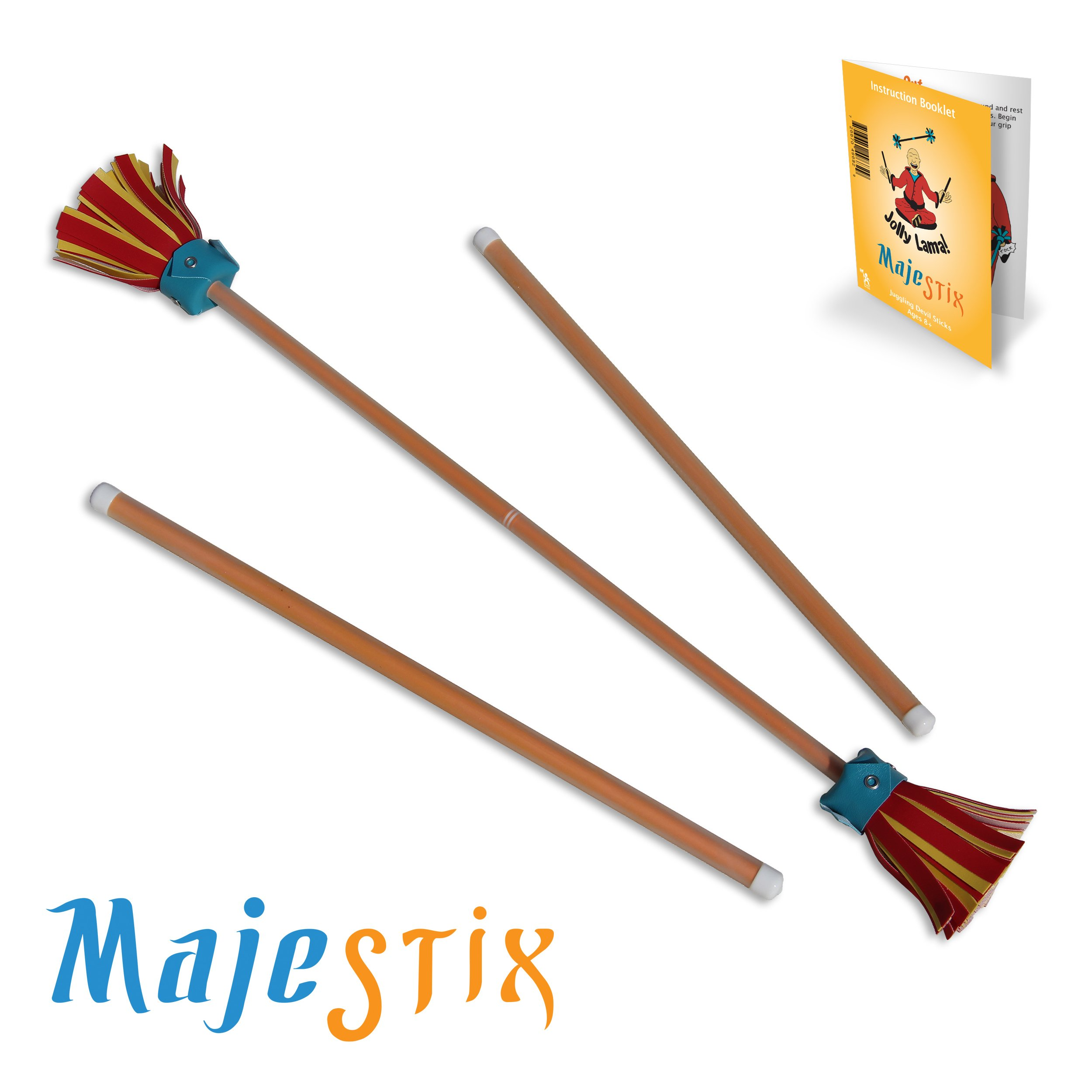 Orange Majestix Juggling Sticks Devil Sticks by Jolly Lama!