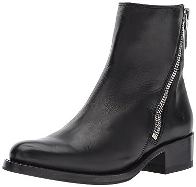 05e324f49 FRYE Women's Demi Zip Bootie Boot, Black Polished Soft Full Grain, ...