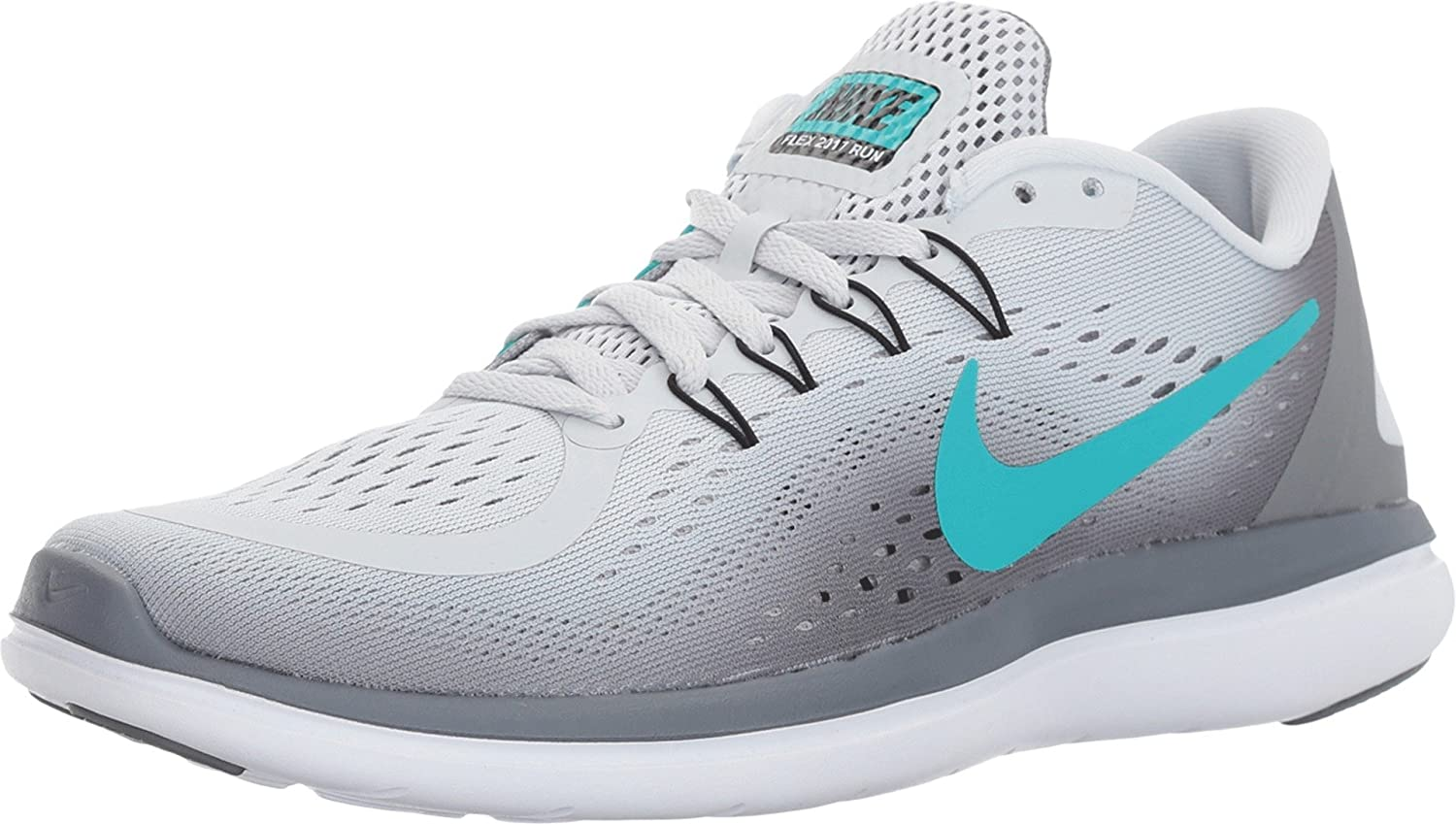 NIKE Flex 2017 RN Platinum/Clear B01NCOLAVT 8.5 B(M) US|Pure Platinum/Clear RN Jade/Cool Grey/Black 28ffcc