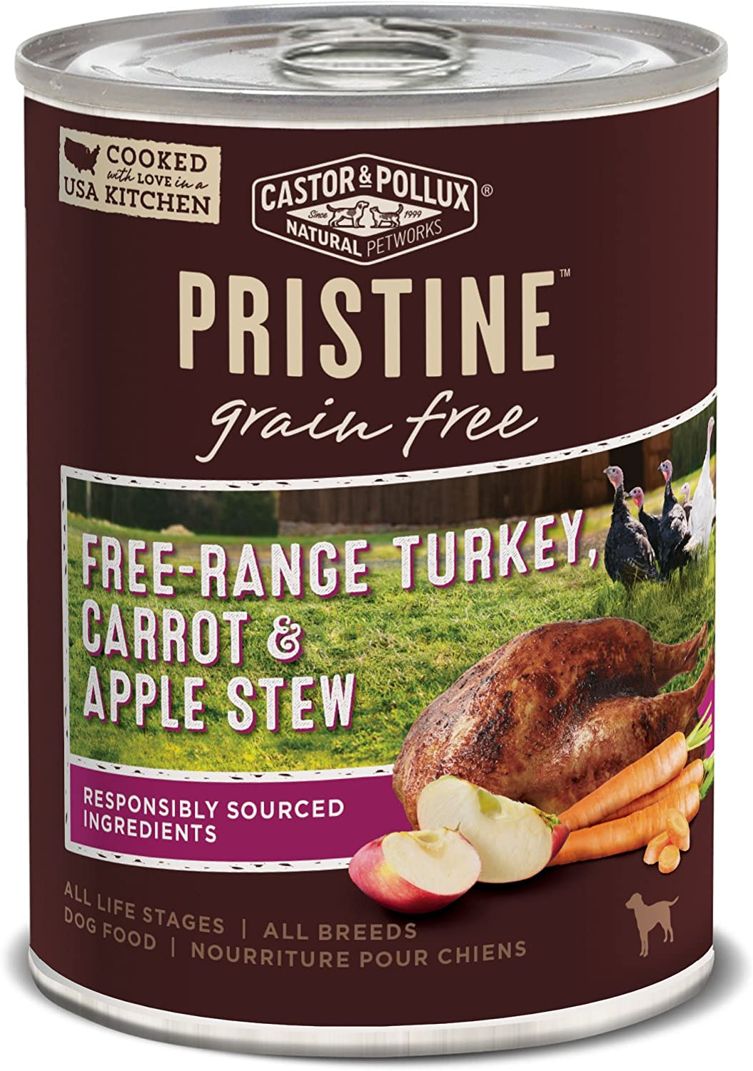 Castor & Pollux Pristine Grain Free Canned Wet Dog Food (12) 12.7 oz Cans
