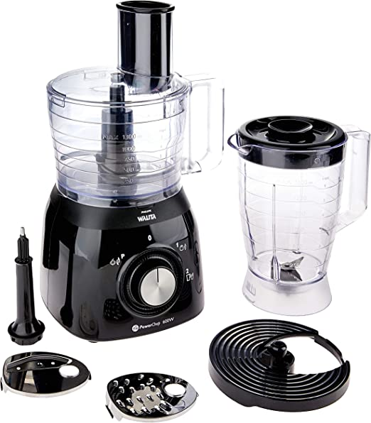 Philips Walita Viva Collection RI7630/90 - Robot de cocina (1,3 L, Negro, Giratorio, 1,5 L, 1,12 m, Brasil): Amazon.es: Hogar