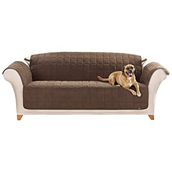 Amazoncom Sure Fit Quilted Pet Throw Sofa Slipcover