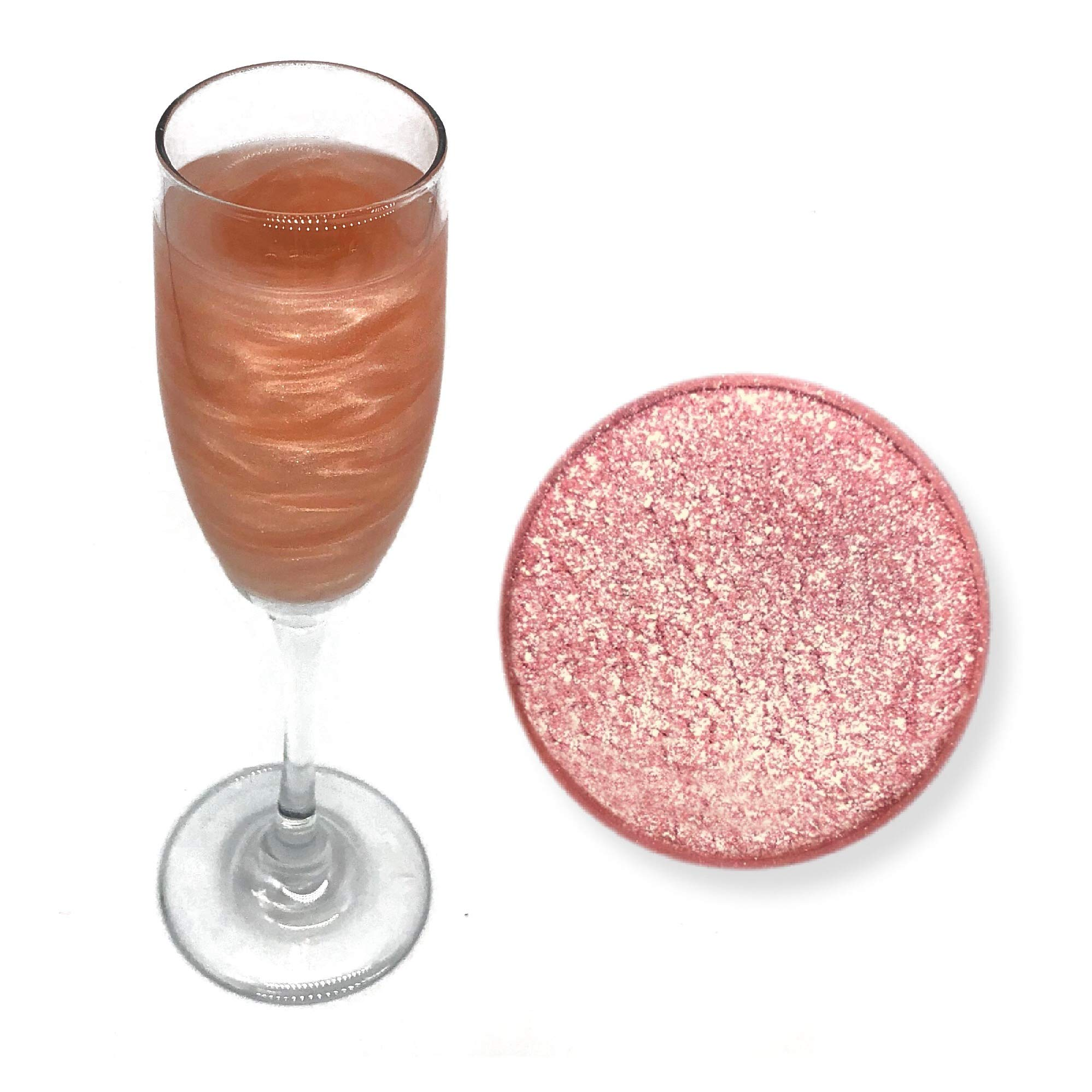 Rose Gold Beer & Beverage Glitter | 50 Gram Jar | Edible Food Grade Beer Glitter, Cocktail Glitter & Beverage Glitter-Dust from Bakell by Bakell (Image #1)