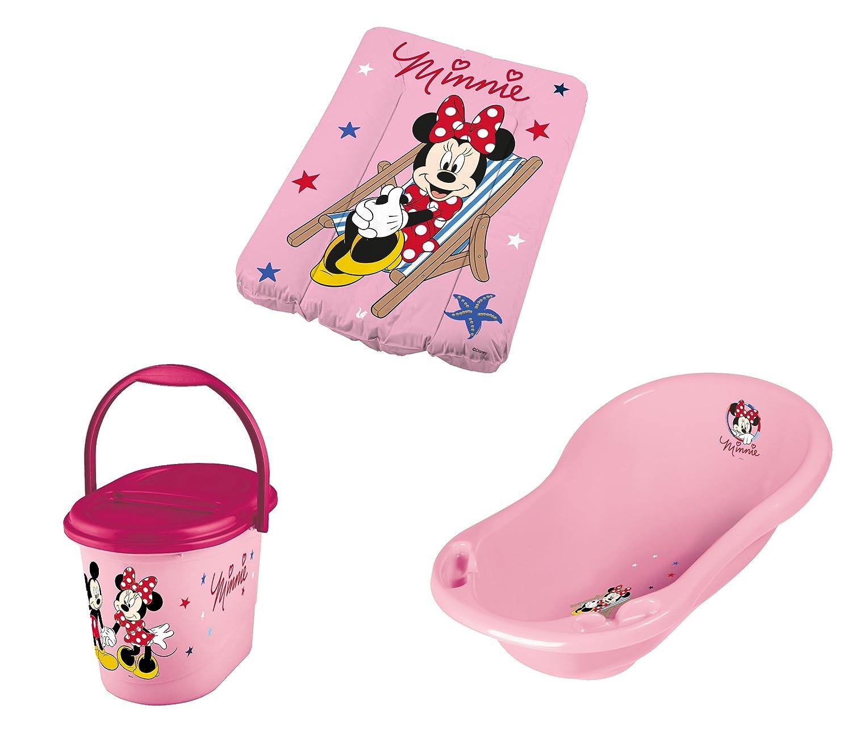 Wickelauflage Windeleimer Disney Minni Maus rosa Baby Badewanne