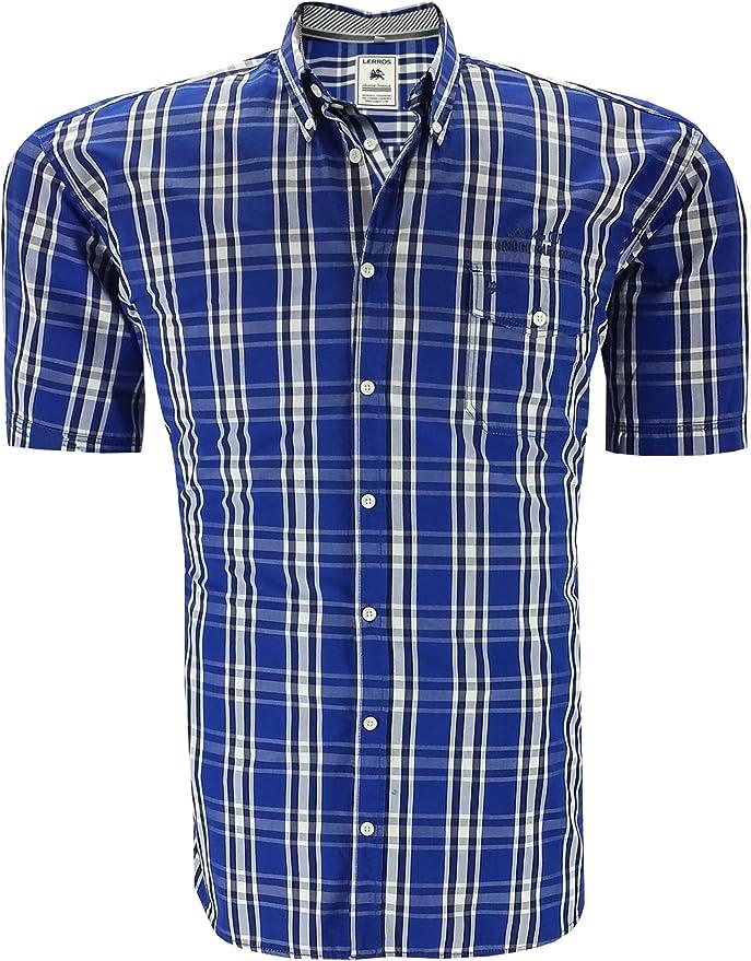 LERROS - Camisa casual - para hombre azul xxx-large: Amazon.es: Ropa y accesorios