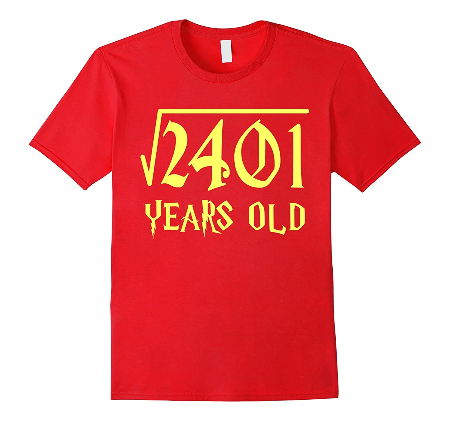 Square Root of 2401 49 Years Old 49th Birthday T-Shirt-CL
