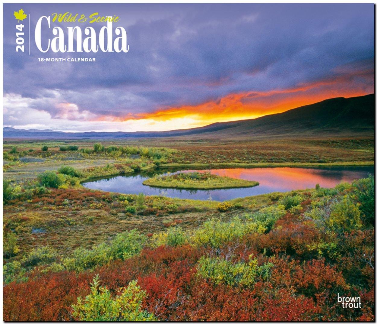 Canada - Wild & Scenic 2014 - Kanada: Original BrownTrout-Kalender - Deluxe [Mehrsprachig] [Kalender]
