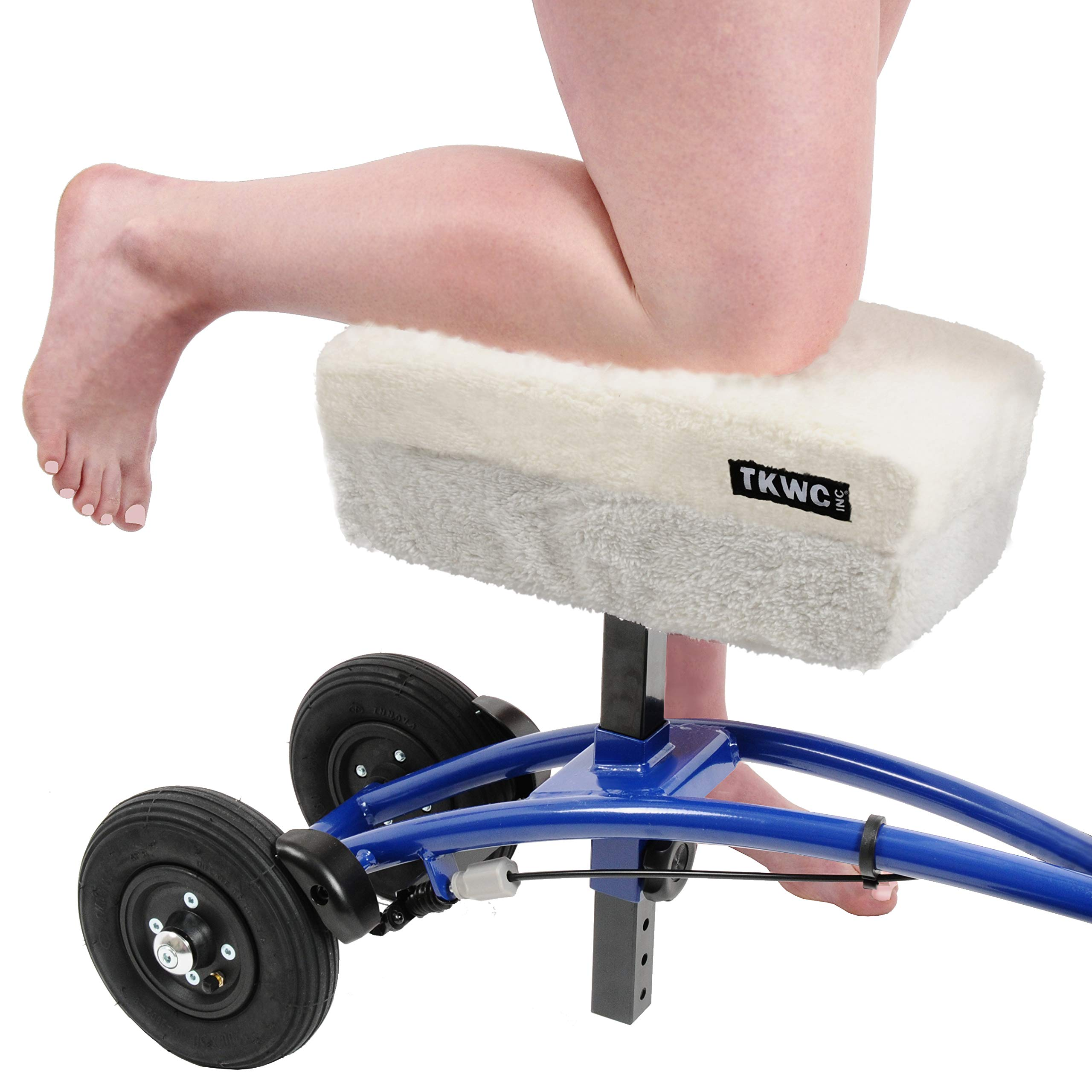 Knee Scooter Comfy Cushion by TKWC INC - Two Inch Thick Foam Knee Pad and Cover - Fits Most Knee Walker Models by TKWC INC