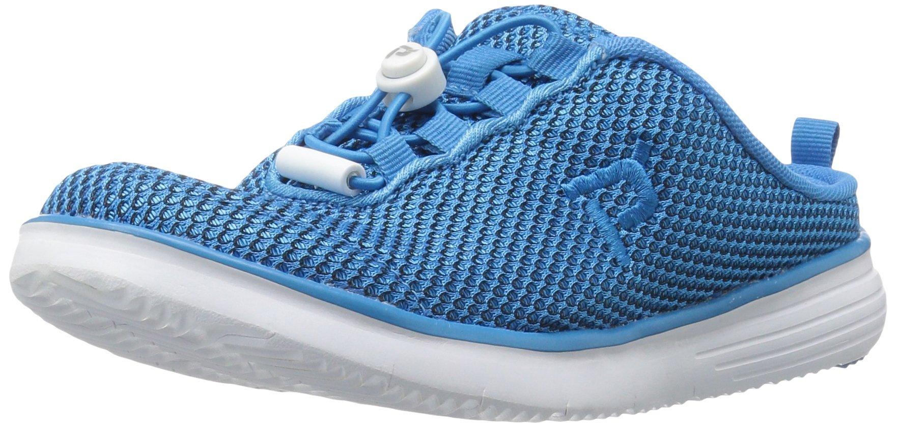 Propet Women's TravelFit Slide Walking Shoe, Blue/Black, 8 W US