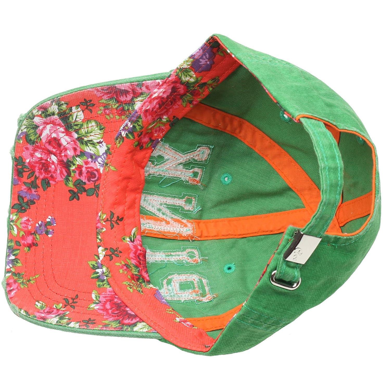 60bb9943b1 RaOn B82 Sexy Women Girl Flower Pink Cute Lady Design Ball Cap Baseball Hat  Truckers (Green) at Amazon Women's Clothing store:
