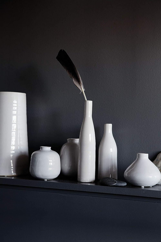 Canvas Home Ltd C75-BT-LG Home Morandi Vase bouteille en c/éramique Blanc Taille L