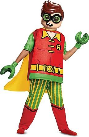 Amazon.com: Lego Batman Movie Deluxe Robin Costume for ...