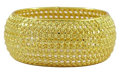 Matra 18K Gold überzogenes indisches ethnisches Kada Armband