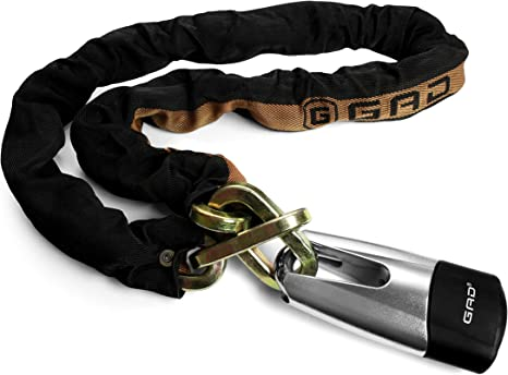 Motorrad Bremsscheibenschloss Set Kettenschloss 120cm Kabel f/ür Roller