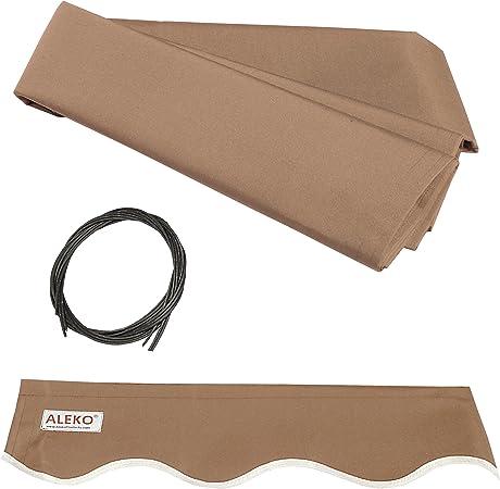 Amazon Com Aleko Fab12x10sand31 Retractable Awning Fabric Replacement 12 X 10 Feet Sand Garden Outdoor