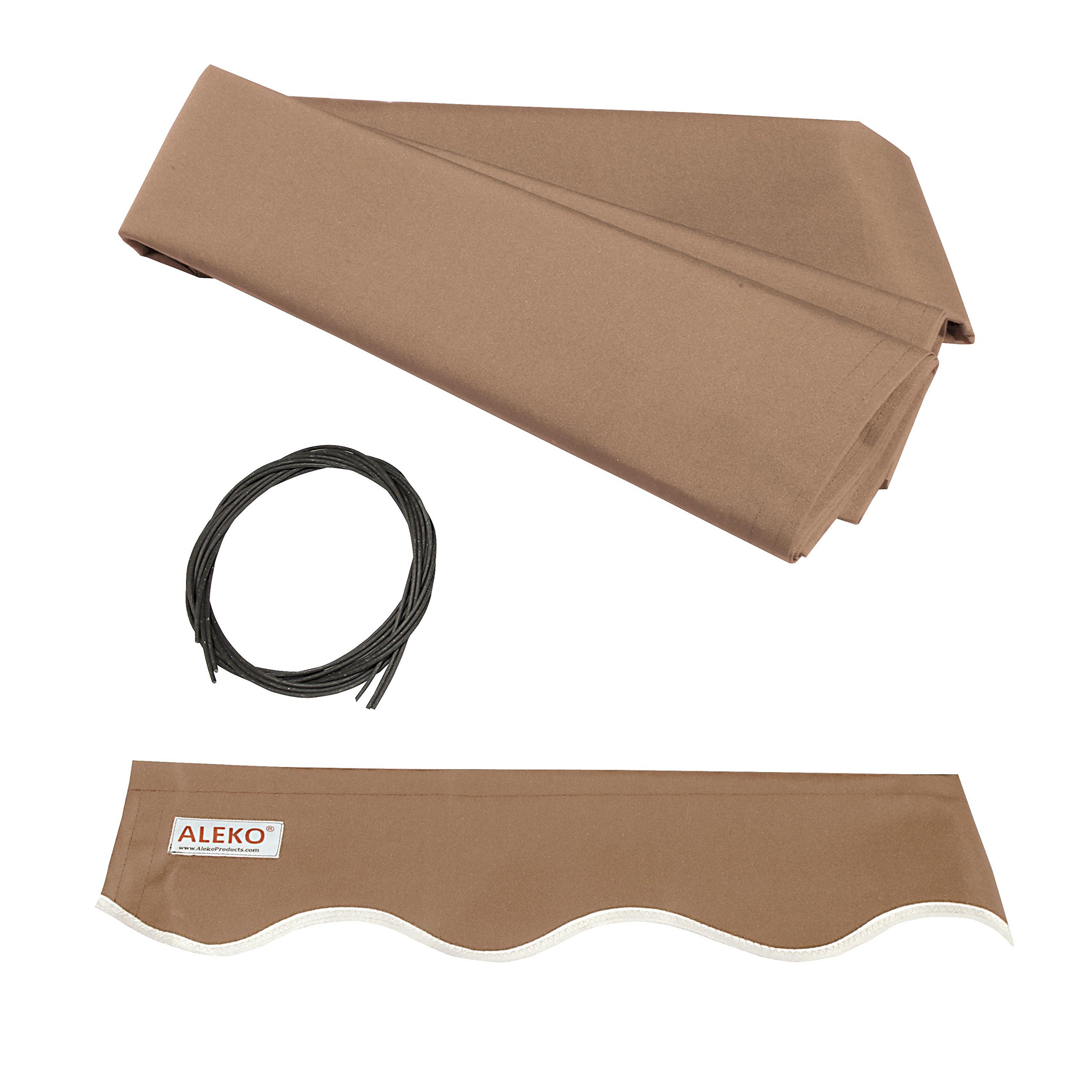 ALEKO FAB12X10SAND31 Retractable Awning Fabric Replacement 12 x 10 Feet Sand by ALEKO