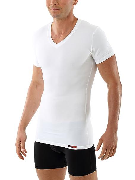 d4e228fcc5098 ALBERT KREUZ Camiseta Interior Moldeadora Shape para Hombre - Camiseta con  Compresión para moldear el Busto - de Manga Corta y Cuello de Pico