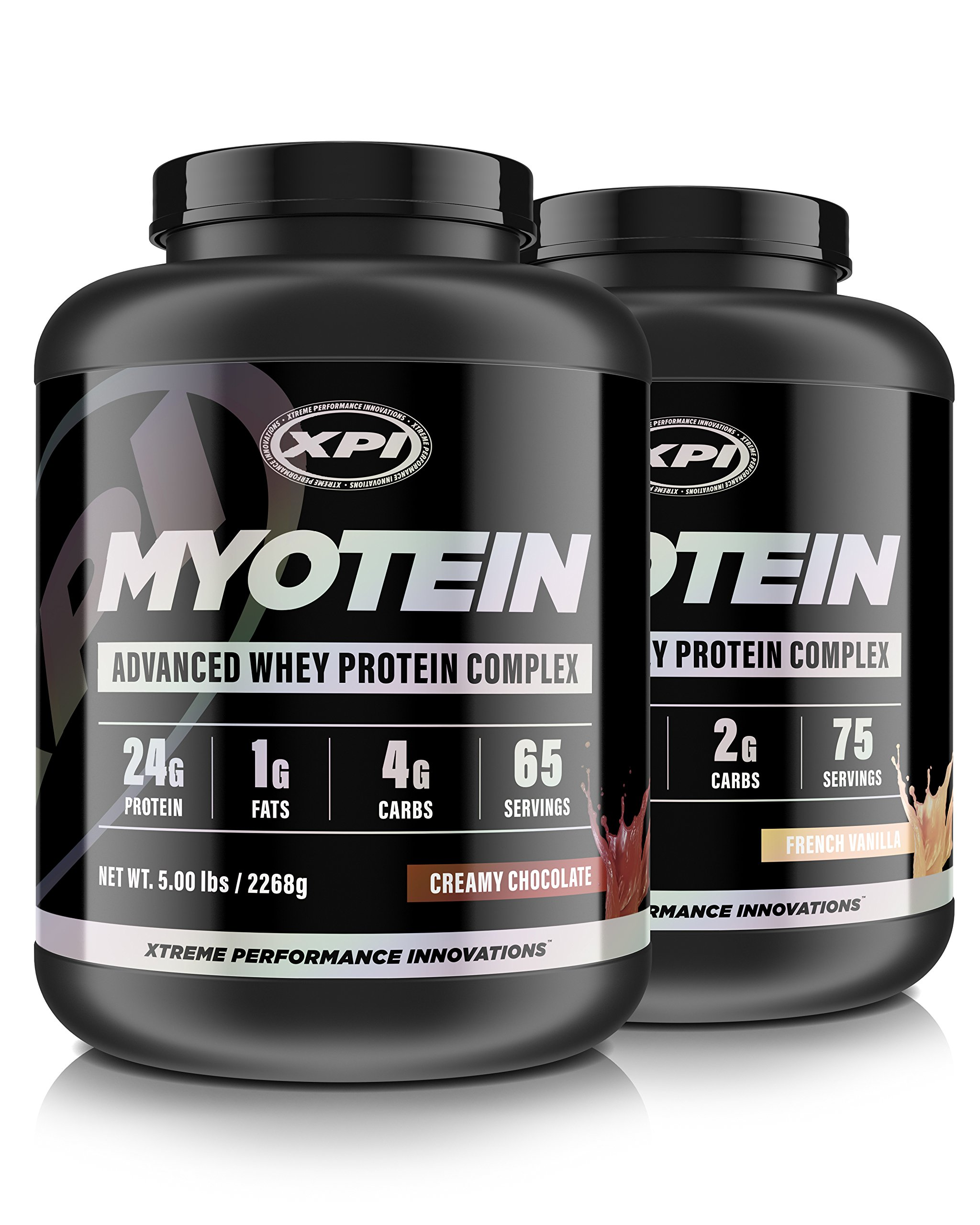 XPI Myotein Chocolate & Vanilla 5LB - Best Whey Protein Powder/Shake - Hydrolysate, Isolate, Concentrate & Micellar Casein