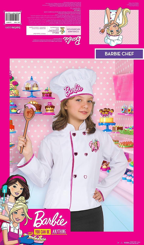 Ciao-Barbie Chef (giacca e cappello) costume bambina, Taglia unica ...