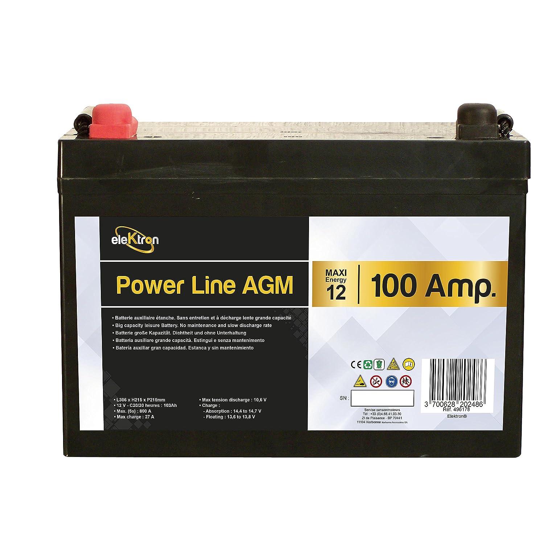 INOVTECH Batterie auxiliaire Power Line AGM 100 Amp/ères
